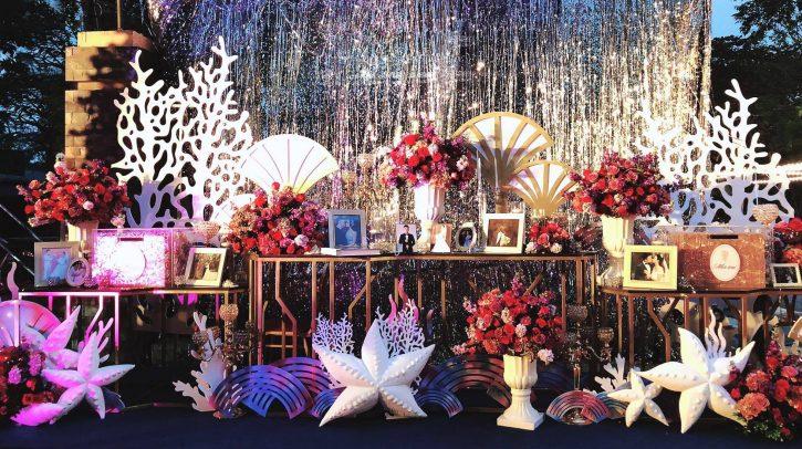 trang trí tiệc cưới phong cách biển cả
