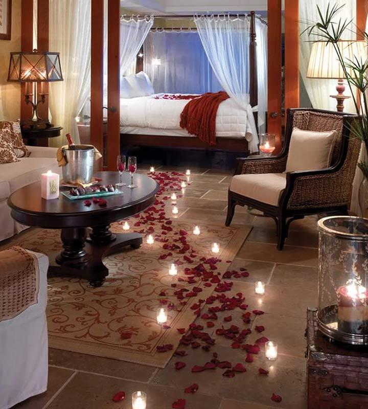 trang trí phòng cưới với nến thơm