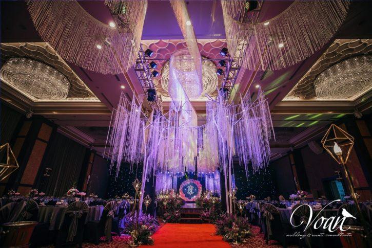 trang trí tiệc cưới tại Almaz Hotel